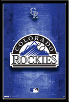 Colorado Rockies Framed Logo Poster