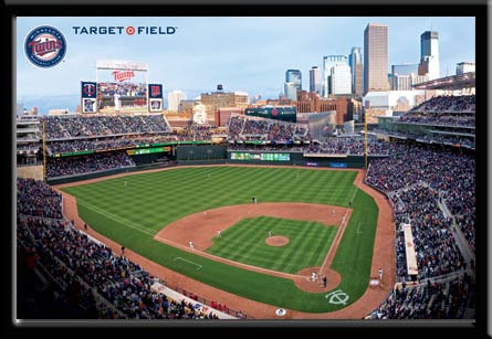 Minnesota Twins Target Field Framed Poster