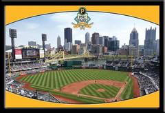 PNC Park Framed Baseball Stadium Poster