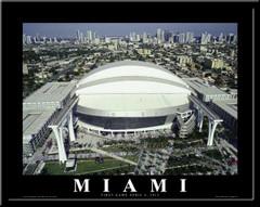 Miami Marlins First Game Marlins Stadium Poster