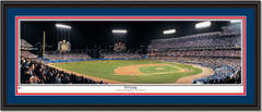 LA Dodgers Dodger Stadium Third Inning Framed Print Double Matting and Black Frame