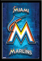 Miami Marlins Logo Framed Fan Poster