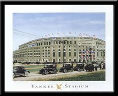 Classic Yankee Stadium Framed Art Print