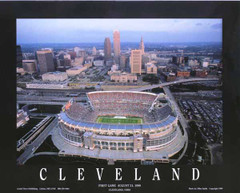 Cleveland Browns Stadium Framed Aerial Photo