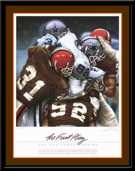 Cleveland Browns The First Play Framed Sports Print