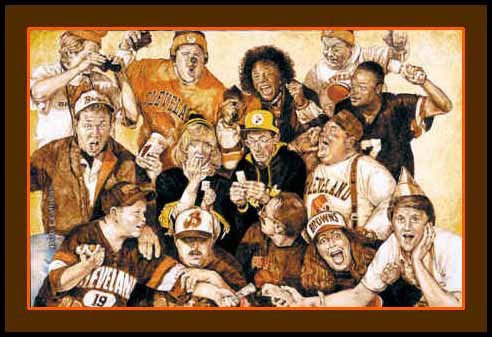 Cleveland Browns Right Church Wrong Pew Art Print