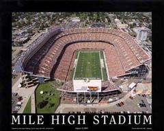 Denver Broncos Mile High Stadium Framed Aerial Photo