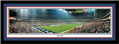 Houston Texans Reliant Stadium First Win Panoramic Poster matted and framed