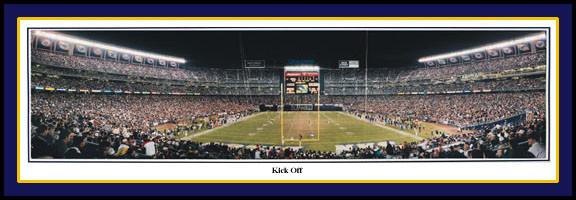 San Diego Chargers Qualcomm Stadium Panoramic Print