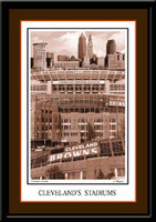 Cleveland Browns Football Stadiums Art Poster