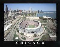 Chicago Bears New Soldier Field Framed Aerial Photo