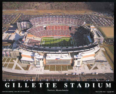 New England Patriots Gillette Stadium Aerial Photo