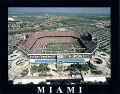 Sun Life Stadium Aerial Framed Miami Dolphins Photo
