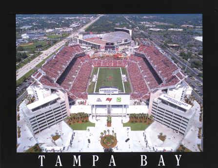 Tampa Bay Buccaneers Raymond James Stadium Aerial Photo