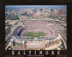 Baltimore Ravens Opening Game Aerial Photo Poster