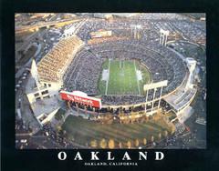 Oakland Raiders Network Associates Stadium Aerial Photo