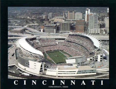 Cincinnati Bengals Paul Brown Stadium Aerial Photo