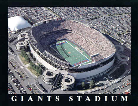 New York Giants Giants Stadium Aerial Photo
