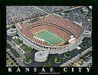 Kansas City Chiefs Arrowhead Stadium Aerial Photo