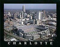 Carolina Panthers Bank of America Stadium Framed Aerial Photo