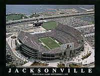 Jacksonville Jaguars Alltel Stadium Framed Aerial Photo