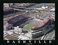 Tennessee Titans Nashville Coliseum Aerial Photo