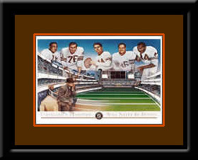 Cleveland Browns Tradition Framed Art Print