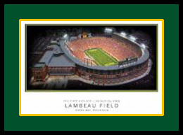 Lambeau Field Poster Green Bay Packers Posters