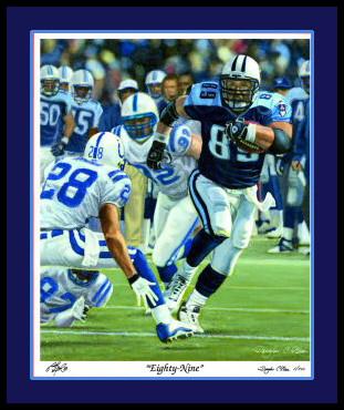 "Tennessee Titans ""Eighty Nine"" Art Print"