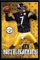 Pittsburgh Steelers Quarterback #7 Ben Roethlisberger Poster