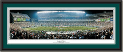Philadelphia Eagles Lincoln Financial Field Inaugural Game Poster Double Mat and Black Frame