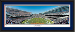 Chicago Bears -- First Day Game -- Soldier Field Framed Print Double Mat and Black Frame