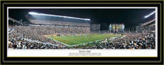 Pittsburgh Steelers Super Bowl XL Panoramic Banner Night matted