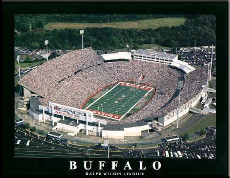 Ralph Wilson Stadium Aerial Photo Buffalo Bills Poster