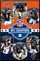 Chicago Bears 2006 NFC Champions Framed Poster