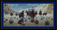 Dallas Cowboys Looking for Game Framed Art Print