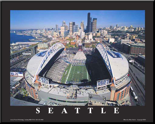Seattle Seahawks CenturyLink Field Framed Aerial Photo