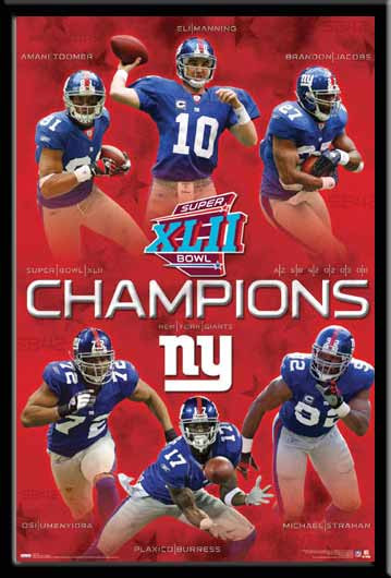 New York Giants Super Bowl Super Stars Poster