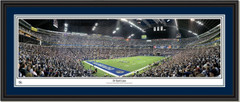 Dallas Cowboys Texas Stadium 20 Yard Line Panoramic Poster Double Mat and Black Frame
