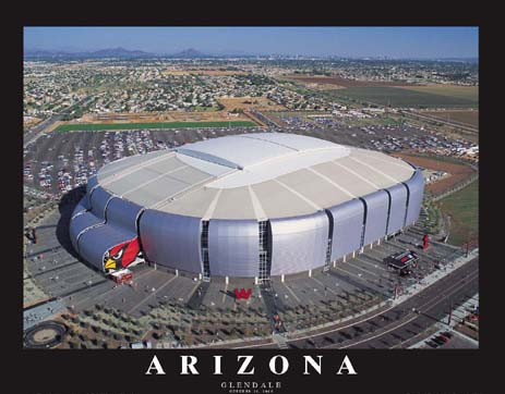 Arizona Cardinals Stadium Framed Aerial Photo