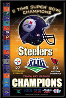 Steelers 6 Time Super Bowl Champions Poster