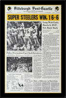 Steelers Win 16-6 Newspaper Headlines Super Bowl IX