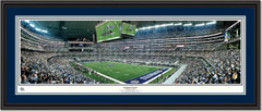 Dallas Cowboys AT&T Stadium Inaugural Game Panoramic Picture Double Mat and Black Frame