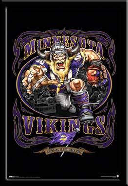 Minnesota Vikings Fan Poster Grinding It Out