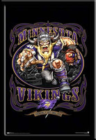 Minnesota Vikings Fan Poster Grinding it Out