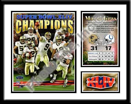 New Orleans Saints Memories and Milestones Framed Championship Picture