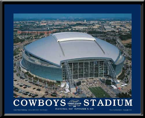 Dallas Cowboys Stadium Inaugural Day Framed Picture Sports