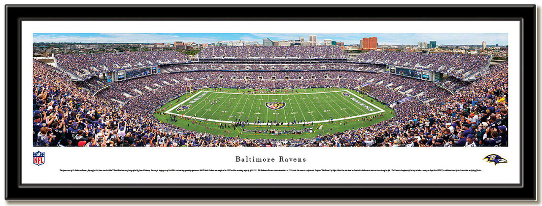 Baltimore Ravens M&T Bank Stadium Panoramic Poster no mat
