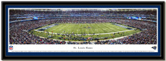St. Louis Rams Edward Jones Dome Panoramic NFL Poster matted