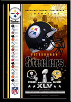 Pittsburgh Steelers Road to Super Bowl XLV Framed Poster